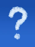 Question mark at the sky Royalty Free Stock Photo