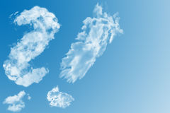 Question mark in the sky Royalty Free Stock Images
