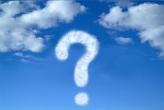 Question mark at the sky Royalty Free Stock Photography
