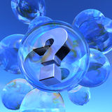 Question mark and soap bubbles Royalty Free Stock Photography