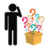 Question mark and solutions Royalty Free Stock Image