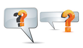 Question mark and speech bubble Royalty Free Stock Photos