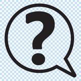 Question mark in a speech bubble vector icon. Question mark in a speech bubble, flat icon, vector illustration stock illustration