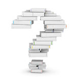 Question mark , stacked from blank books Stock Image