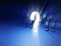 Question mark standing out Royalty Free Stock Photography