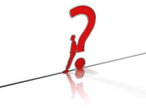 Question mark steel Stock Photography