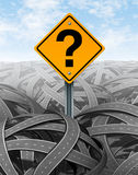 Question Mark Strategy Stock Photography