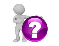 Question mark Support Stock Images