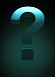 Question mark symbol. 3D render of a question mark symbol Stock Images