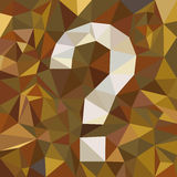 Question-mark symbol Stock Photography
