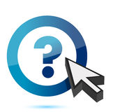 Question mark symbol with cursor Royalty Free Stock Photo