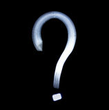 Question mark Symbol Icon Using Light Painting Technique Stock Images