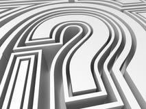 Question Mark Symbol Showing FAQ Solving Stock Image