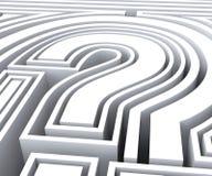 Question Mark Symbol Shows FAQ Solving Stock Photo