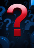 Question mark symbols Royalty Free Stock Photography