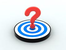 Question Mark target Royalty Free Stock Image