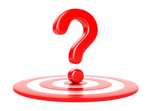 Question mark and target Stock Images