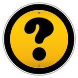 Question mark traffic sign Royalty Free Stock Photo