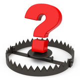 The question mark trap Royalty Free Stock Photo