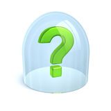 Question-mark under glass Royalty Free Stock Photography