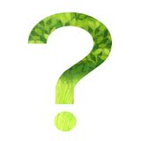 Question mark. A very green question mark Royalty Free Stock Photos