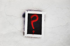 Question mark on the wall Royalty Free Stock Image