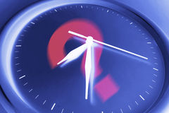 Question Mark on Wall Clock Royalty Free Stock Photos