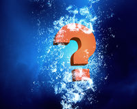 Question mark in water Royalty Free Stock Images