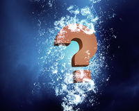 Question mark in water Stock Image