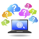 Question Mark Web And Internet Concept Images libres de droits