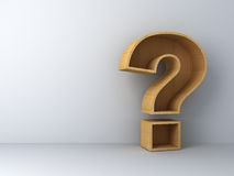 Question mark on white Royalty Free Stock Image