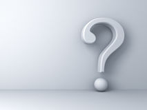 Question mark on white background abstract with shadow Stock Images