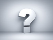 Question mark on white background Royalty Free Stock Photo