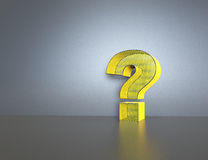 Question mark on white background Royalty Free Stock Photos