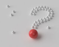 Question mark of white and red balls Stock Photography