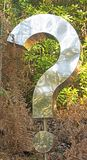 A Question Mark in the Woods royalty free stock photos