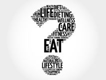 Question mark word cloud. Fitness, sport, health concept Stock Photography