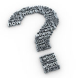 Question mark words Stock Images