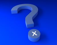 Question mark with x. Label Royalty Free Stock Images