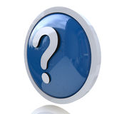 Question mark. When you make the information relevant to the question Stock Image