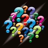 Question markerar märker Royaltyfri Foto