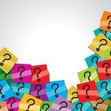 Question markerar märker Arkivbild