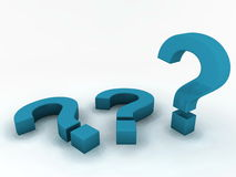 Question marks Stock Photography