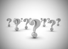 Question marks. Many question marks high quality 3d render Stock Image