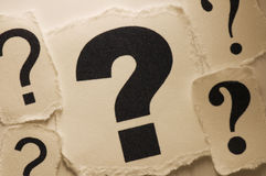 Question Marks. Picture of a question marks Stock Image