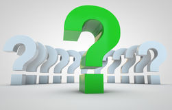 Question marks Stock Photos