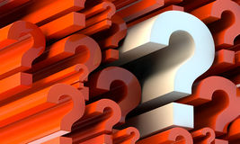 Question marks Royalty Free Stock Images