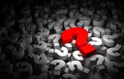 Question Marks. Hi-res 3D render Stock Photos