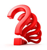 Question marks. On white background Stock Photo