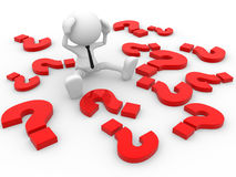Question marks Stock Image